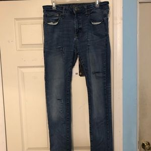 American Eagle Men's 34 32 Skinny Jeans Ripped